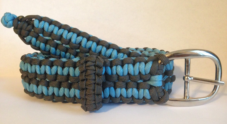 Double cobra weave paracord belt for Paracord belt instructions