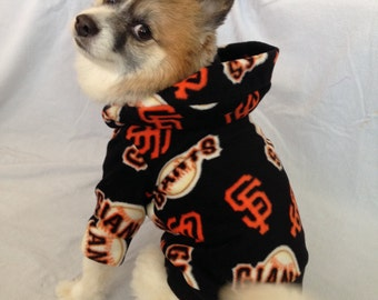 SF Giants Dog Hoodie Sweater, Small Breeds