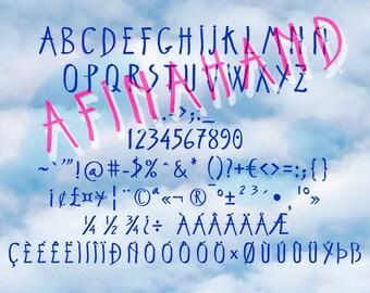 AFINAHAND typeface