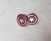 Marvel Comics Avengers Captain America Cuff Links //