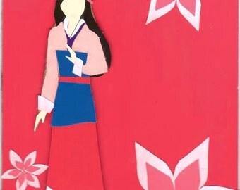 Mulan paper cut out