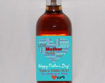 Personalized Mother's Day Gift, Personalized Mother's Day Wine Bottle Label, Mother's Day Personalized Gift, Personalized Wine Bottle Labels