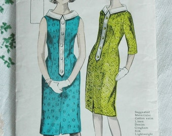 SALE! 10% off Vintage 1960s dress pattern, Maudella 5251, bust 34 inches