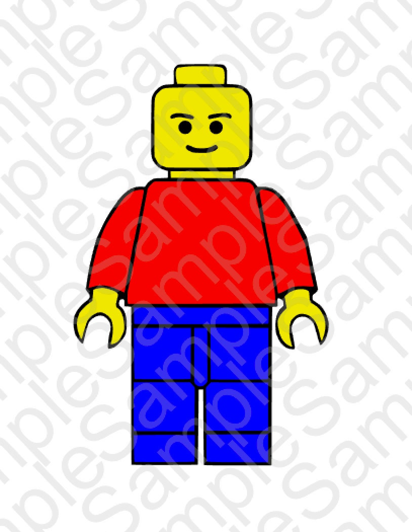 Download Lego Man SVG DXF and PNG Cut Files by BrocksPlayhouse on Etsy