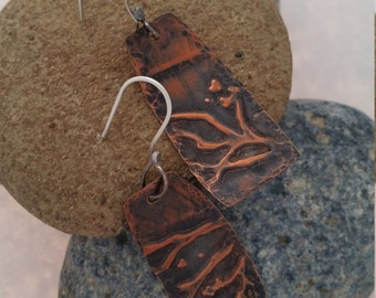 Embossed and Hammered Copper, Sterling Silver & Copper Jewelry