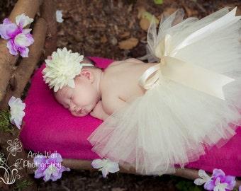 Ivory Newborn Tutu // Photo Prop Tutu // Newborn Tutu Set // Newborn Photo Shoot Tutu
