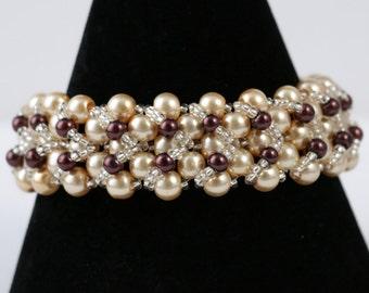 Glass Pearl Beaded Bracelet
