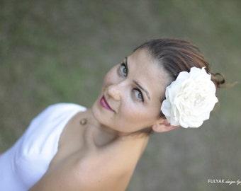 Ivory rose bridal hair flower, bridal head pieces, flower head pieces