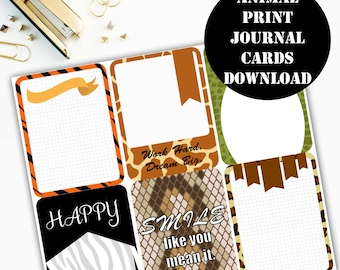 Animal Print Journaling Card Printable / Journal Cards / Scrapbook Kit / Journaling List / Listers Gotta List / Instant Download 00079