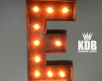 "Letter E Marquee Light - 24"" High"