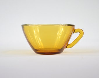 VERECO France, amber glass cup, Vintage