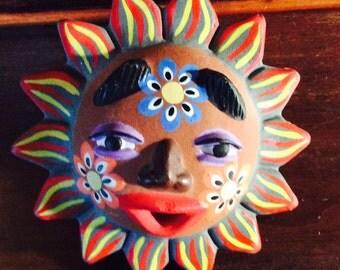 Clay Sun Mask