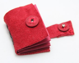 Red Suede Miniature Book