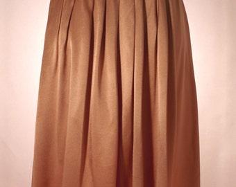 pink silk high waisted knee length skirt ***marked down***