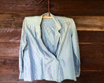 80s Chiang Mai Silk Blazer // Vintage Designer Silk Jacket // Size M/L