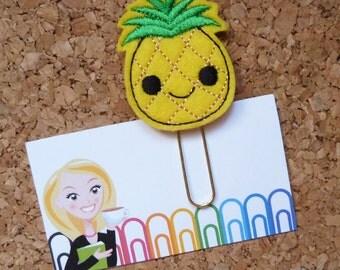Felt Pineapple Bookmark | Pineapple Paper Clip | Planner Clip | Refrigerator Magnet | Cute Brooch Pin |Organizer | Calendar | 365