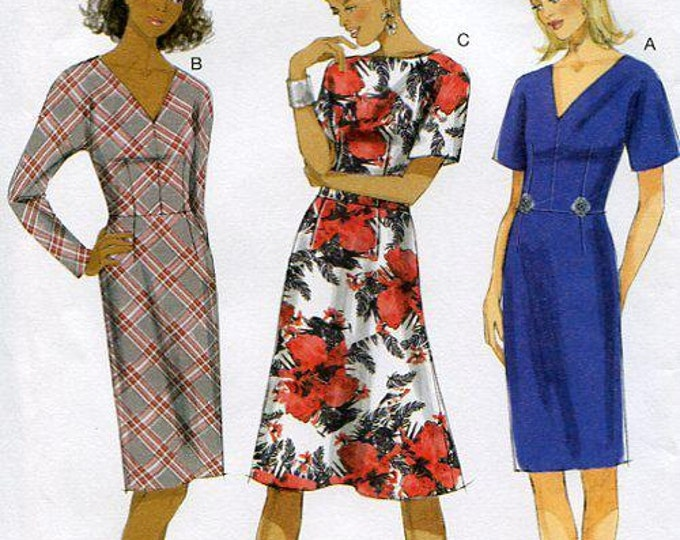 FREE US SHIP Butterick 5851 150th Anniversary Basic Dress Kimono Sleeve Uncut Sewing Pattern  Sz 8/16 16/24 Bust 31 32 34 36 38 40 42 44 46