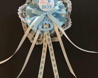Mom To Be Boy Corsage, Capia, Pin on
