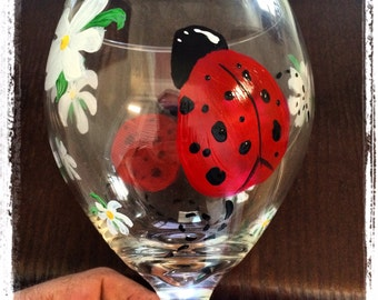 Lady Bug Patio Wine-Glass