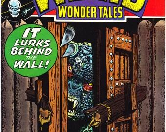 Weird Wonder Tales 4, Monsters, Horror comic book, Vintage Halloween Terror, Scary Stories. 1973 Marvel Comics in VFNM (9.0)