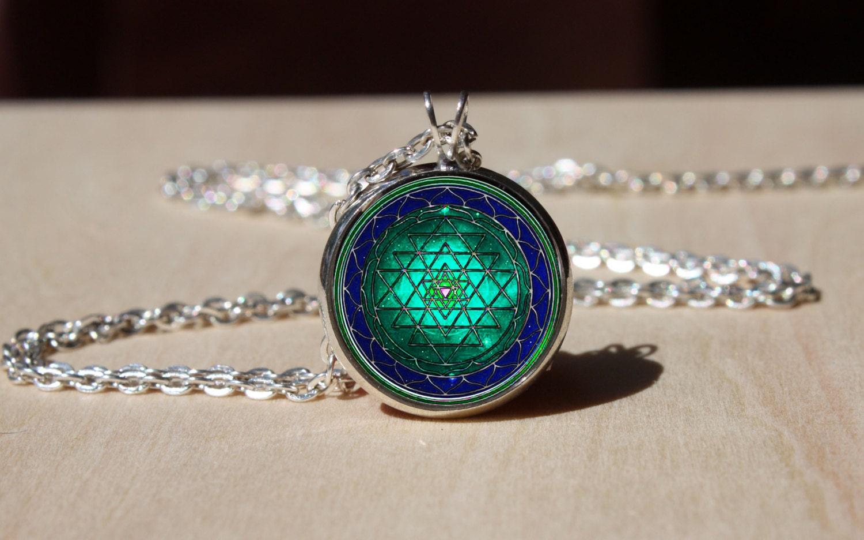 handmade sri yantra necklace sri yantra pendant gift for