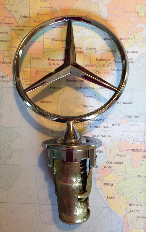 Mercedes benz hood ornament oem emblem vtg by dartmouthhill for Mercedes benz hood ornament
