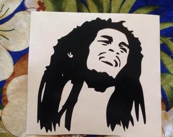 Bob Marley Head decal - Reggae Legend - All Colors!