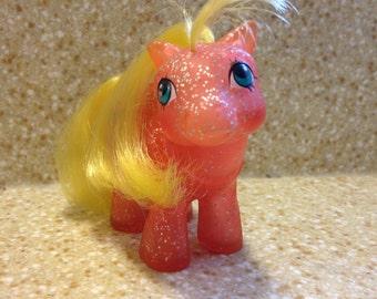 1984 My Little Pony -  Baby Starflower - Vintage Toy Dolls - G1 - Baby Sparkle Pony