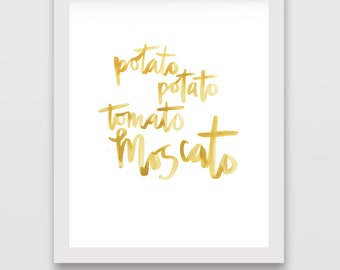 Wine Calligraphy Digital Print: Moscato