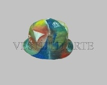 HAND PAINTED HATS for womens hats mens fedora hats boho hat bucket hat boho chic hats sun hat summer hats painted gift ideas for men