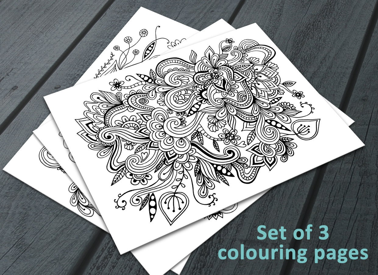 Doodle Adult Colouring Pages Printable Colouring Pages Zen