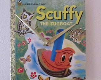 Children's Golden Book wall clock - Scuffy The Tugboat