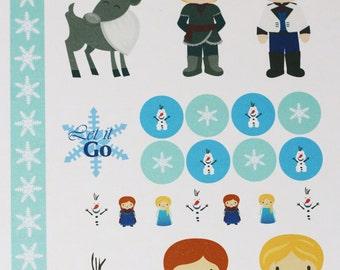 Frozen Themed Sticker Kit