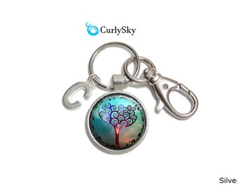 Whimsical Keychain Blue Whimsy Keychain Whimsical Keyring Blue Tree Whimsical Keychain Blue Whimsy Keyring Blue Whimsy Keychain Accessory