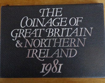 Royal Mint - The Coinage Of Great Britain & Northern Ireland 1981 With Boxed COA - 50p, 10p, 5p, 2p, 1p, 1/2p.