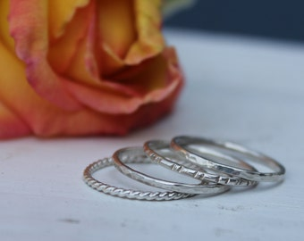 Sterling Silver Stacker Ring Set