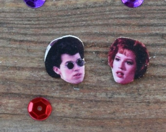 Duckie and Andie Jon Cryer Molly Ringwald John Hughes Pretty in Pink Earrings