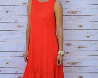 BB Dakota red orange high low dress