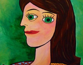 Picasso Style Portrait of Girl