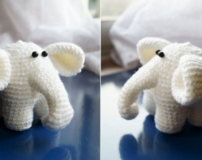 PATTERN Crochet Elephant Animal Toy Amigurumi - crochet pattern, amigurumi pattern, pdf