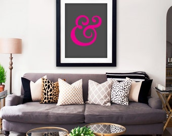Ampersand Poster Wall Art Printable / And Poster Wall Art Printable / & Poster Wall Art Printable