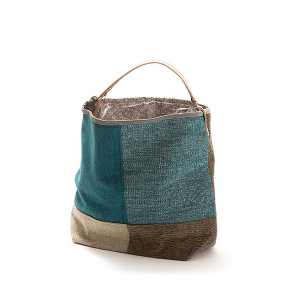 Small bucket bag Cayenne Canvas bag Handbag by ...