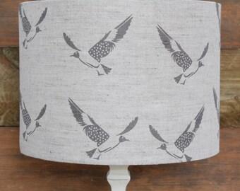 40cm Diameter x 24cm High Hummingbird/Linen Lampshade