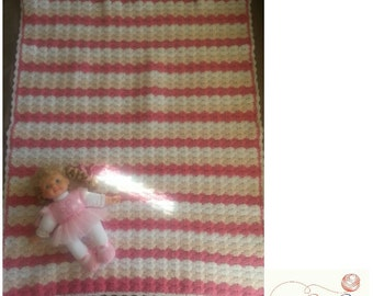 RTS Handmade Crochet Baby Blanket