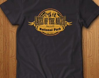 Gates Of The Arctic National Park Shirt Alaska America USA State Park Mountains Camping Hiking Family Holiday Trail Tee Gift Dad Family