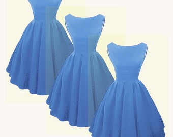 Elizabeth Stone, Audrey Hepburn style 50s Rockabilly Bridesmaid Dress.