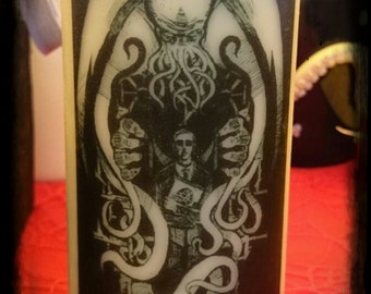 Lovecraft Cthulhu candle