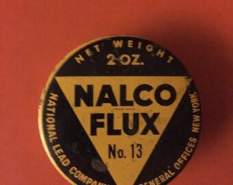 Vintage Nalco Flux Tin