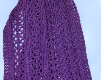 Hand-knit merino scarf