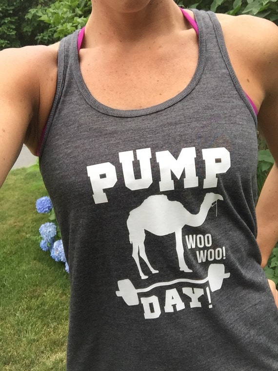 Pump day workout shirt funny workout tank top for women for Workout shirt for women